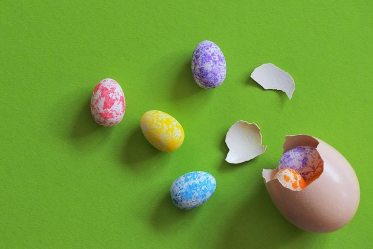 cracked easter eggs