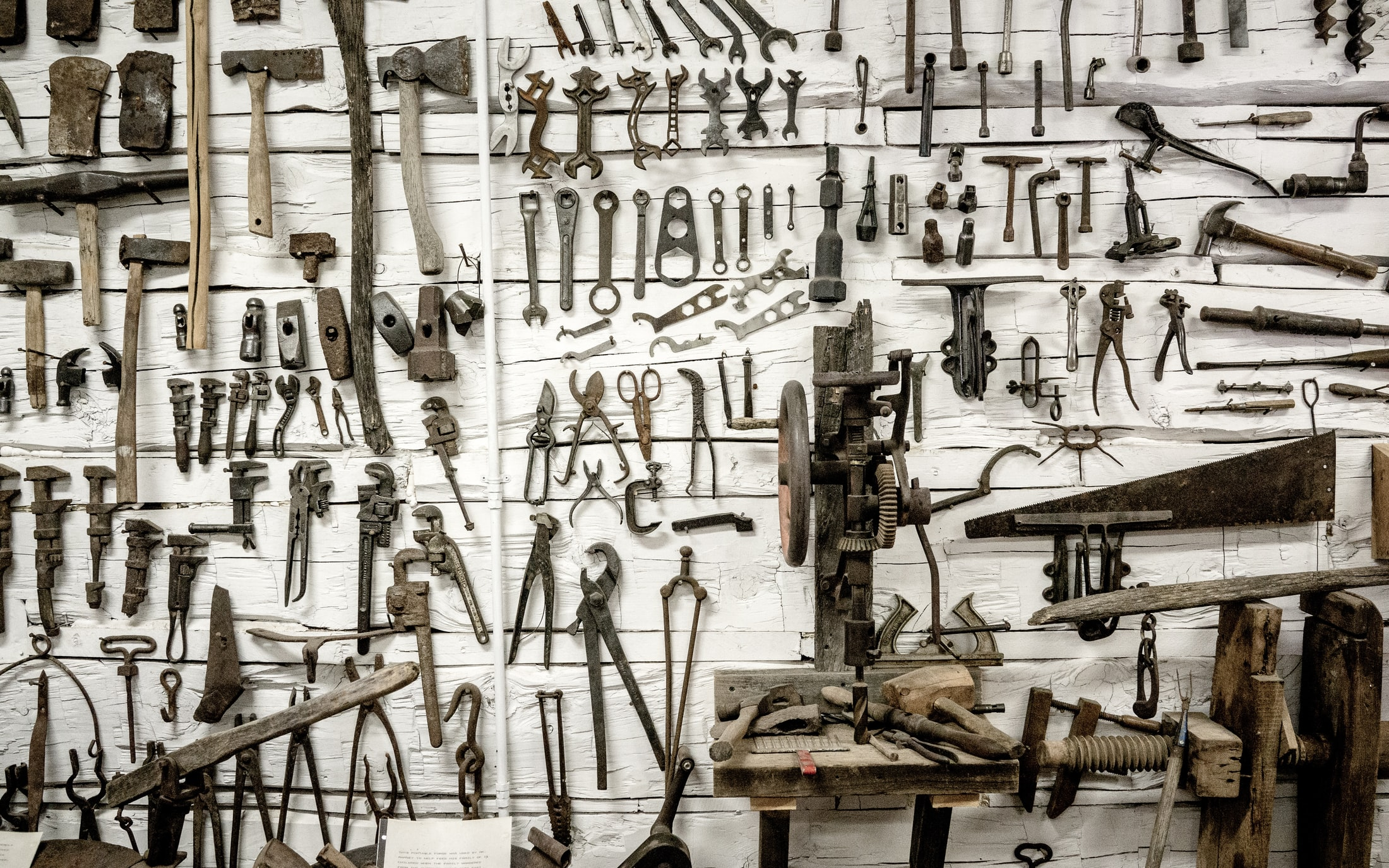 Image of Hand Tools on a Wall