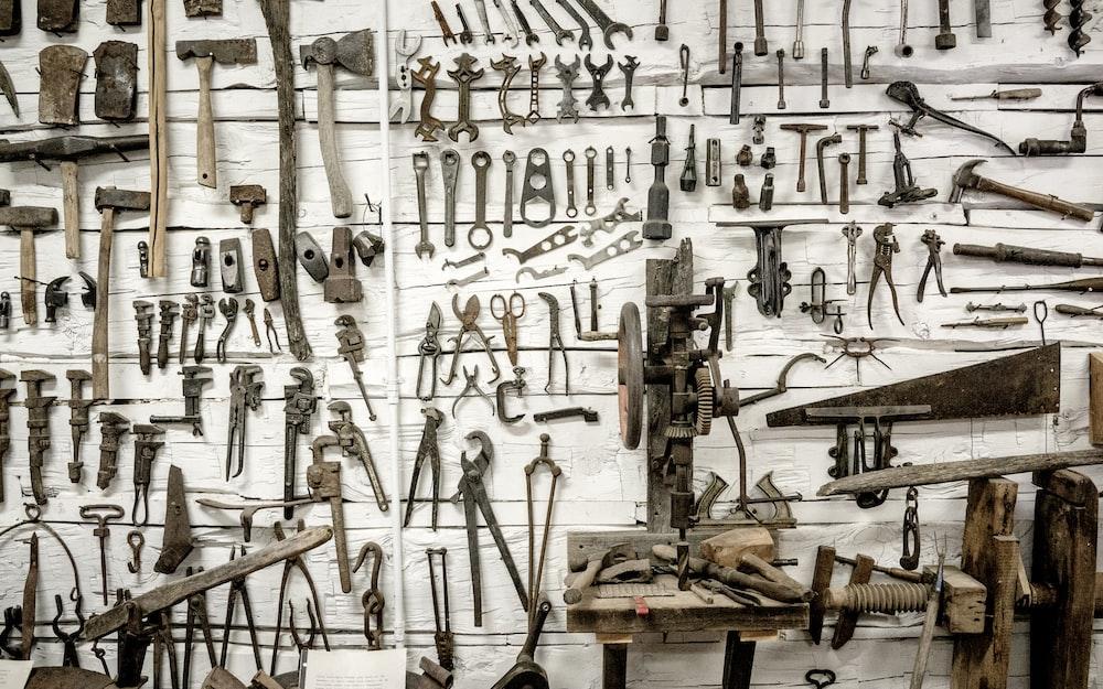 hand tool on wall