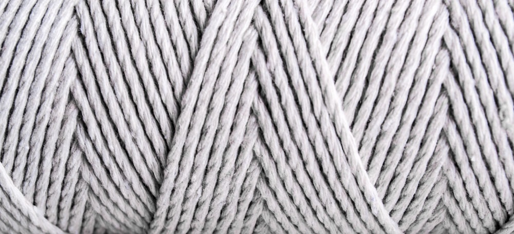 white and gray rope in close up photography