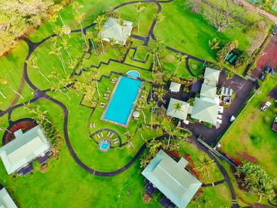 aerial photo of residence house maui teams background