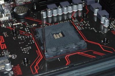 Motherboard with empty AMD socket