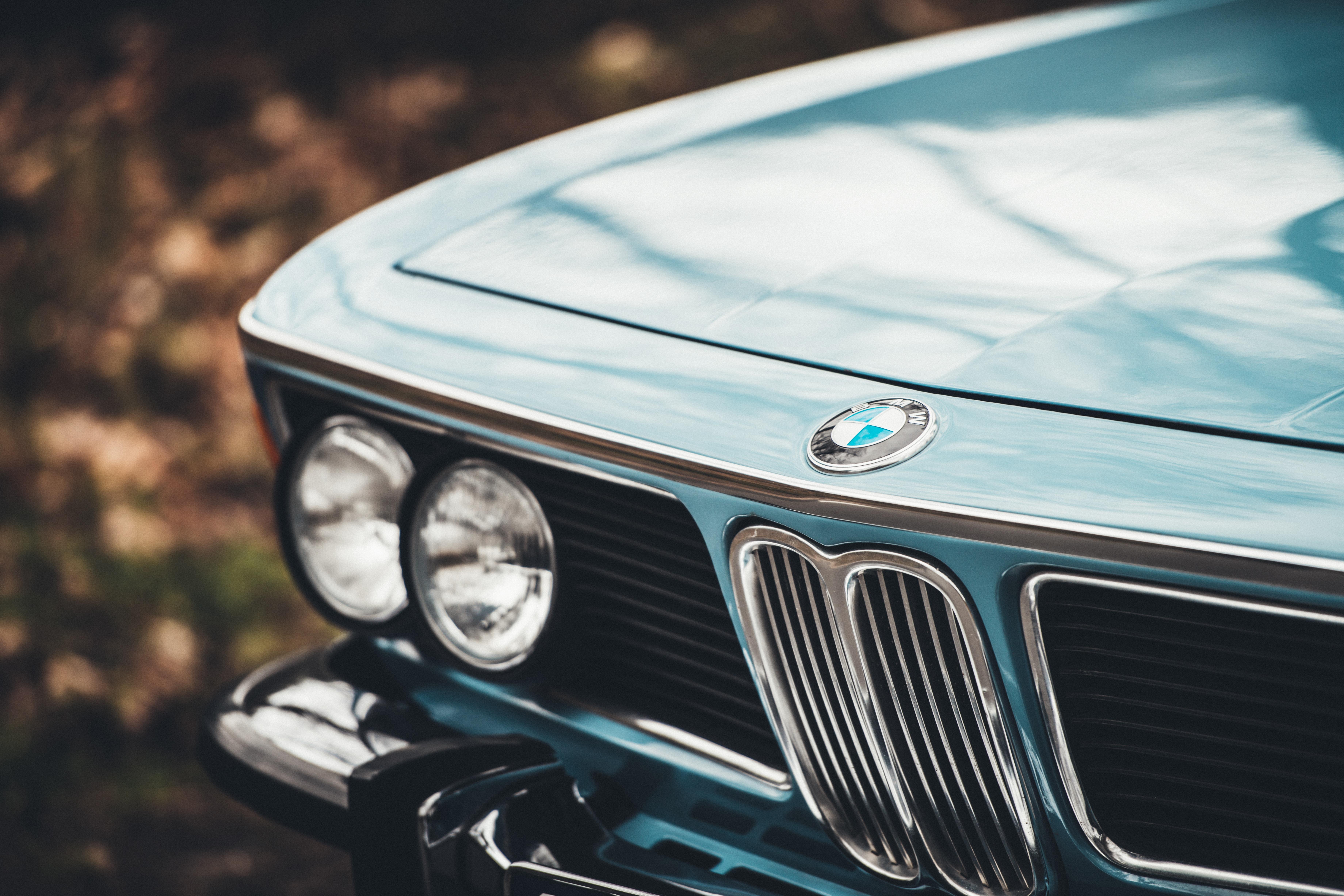 gray BMW car