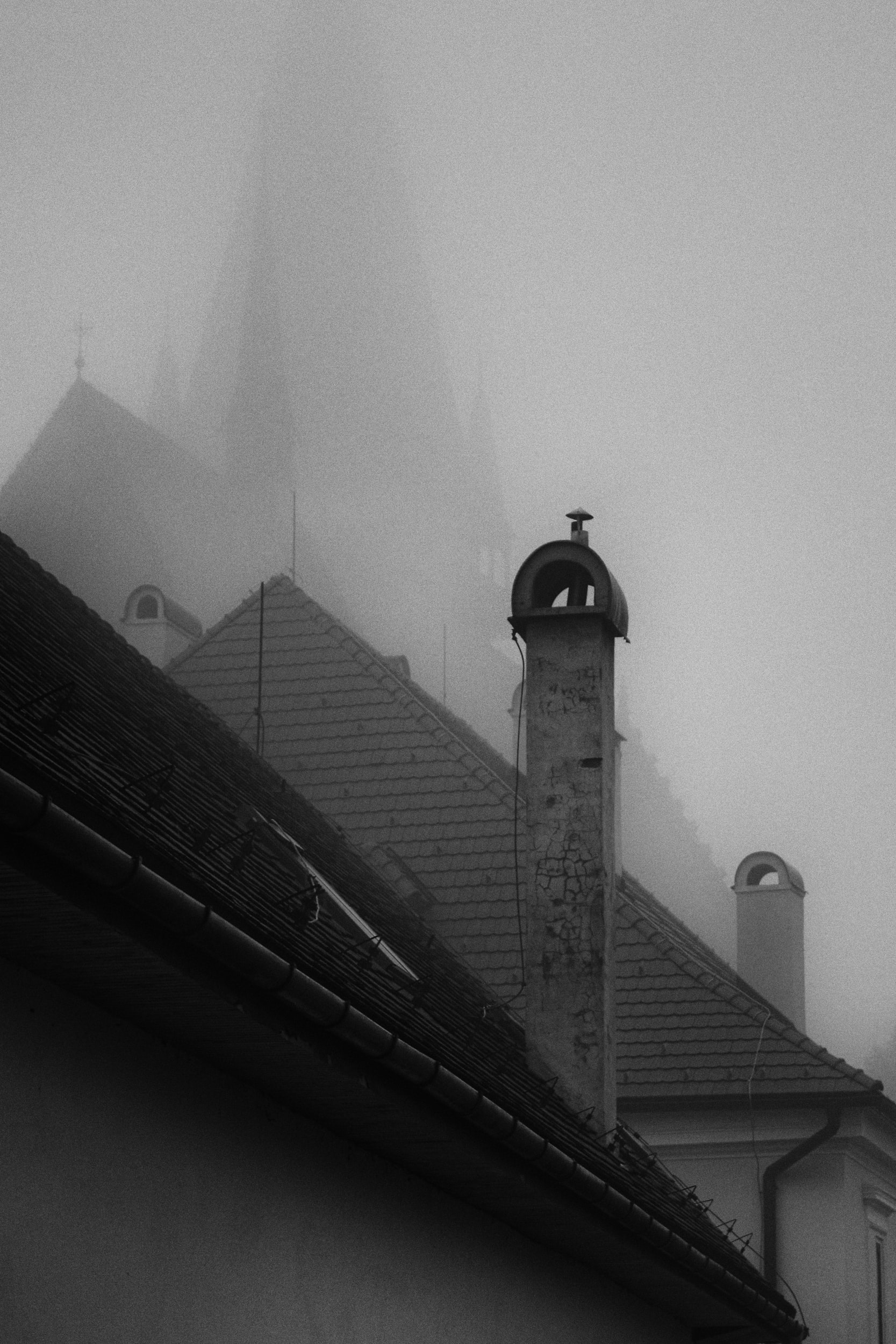 grayscale photo of gothic building