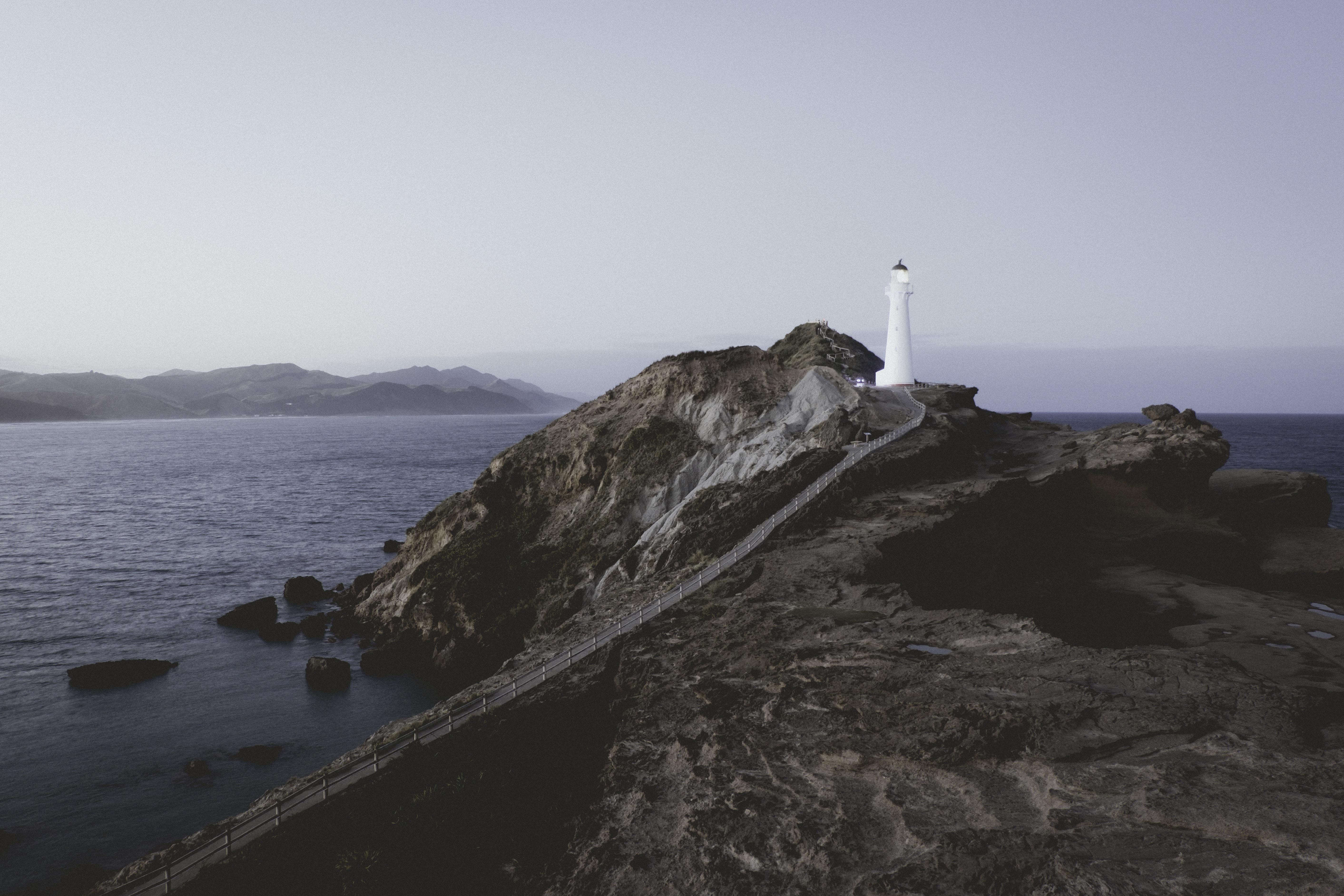 white lighthouse during daytime