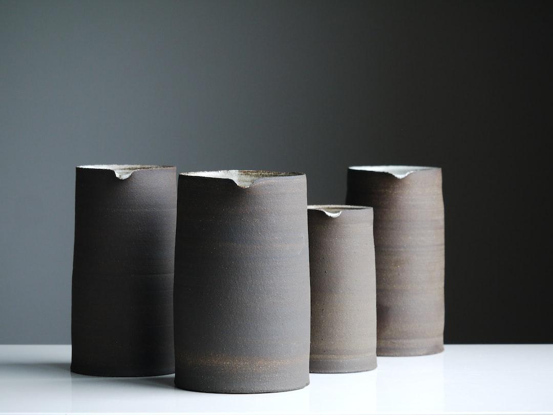Black clay pots