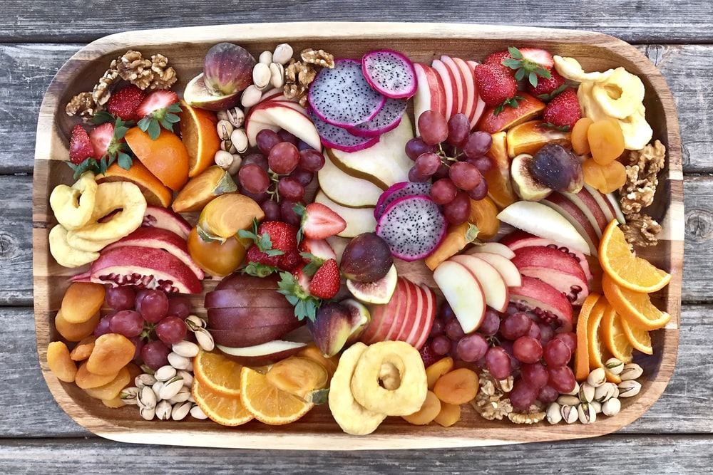 variety of sliced fruits on tray