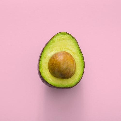 half of an avocado.
