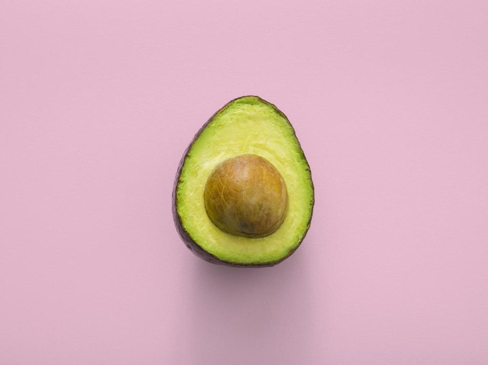sliced green avocado fruit