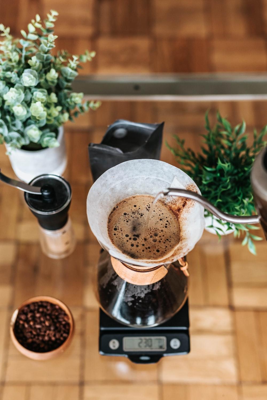 black coffee brewer