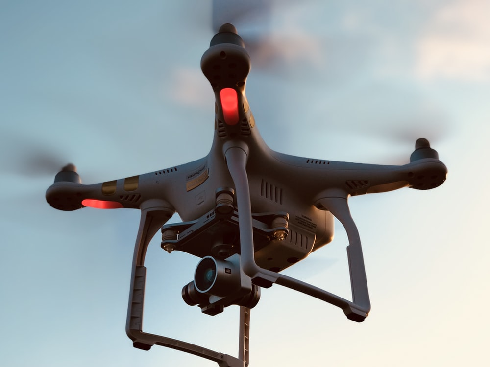 time lapse photography of flying drone