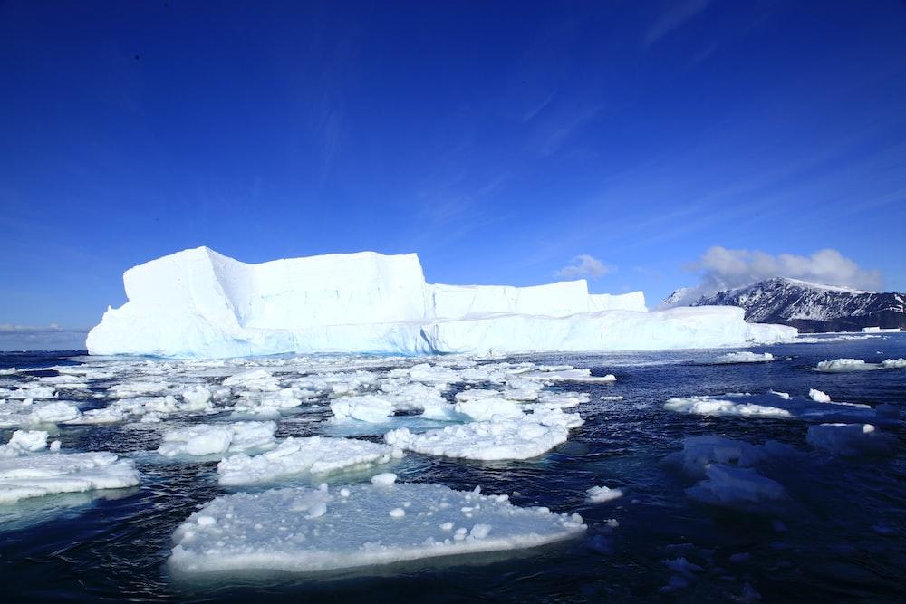 ice berg on body of water