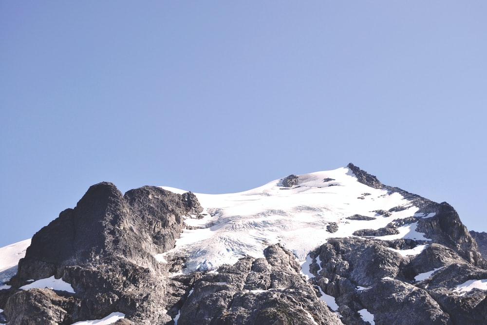 mountain alps with snow
