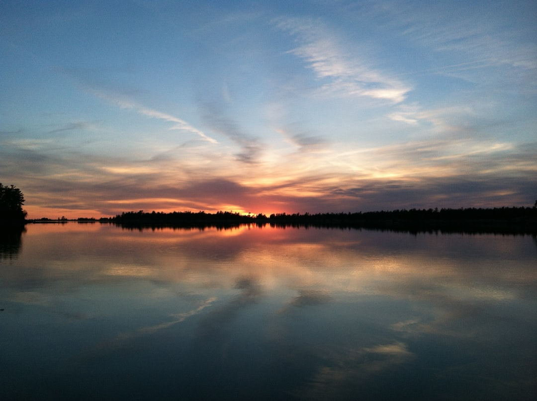 This beautiful sunset was taken while out on the water in Georgian Bay in the eastern portion of Lake Huron. This was in the area of Parry Sound, about 246 km north of Toronto.