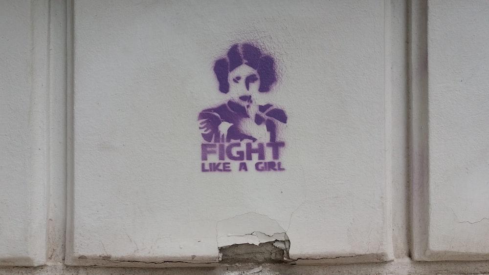 Princess Leia fight like a girl wall paint