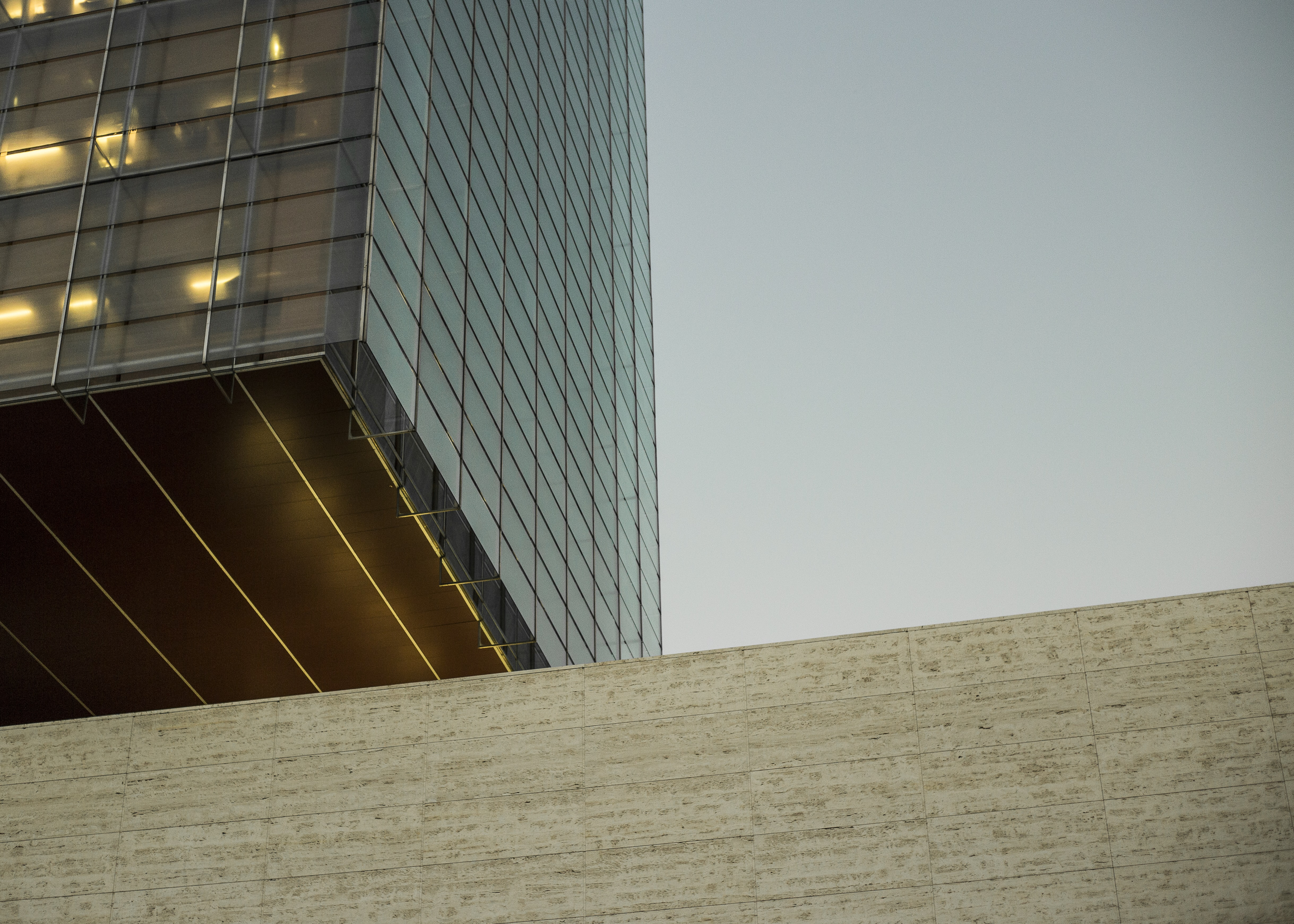 low angle photo of glass building