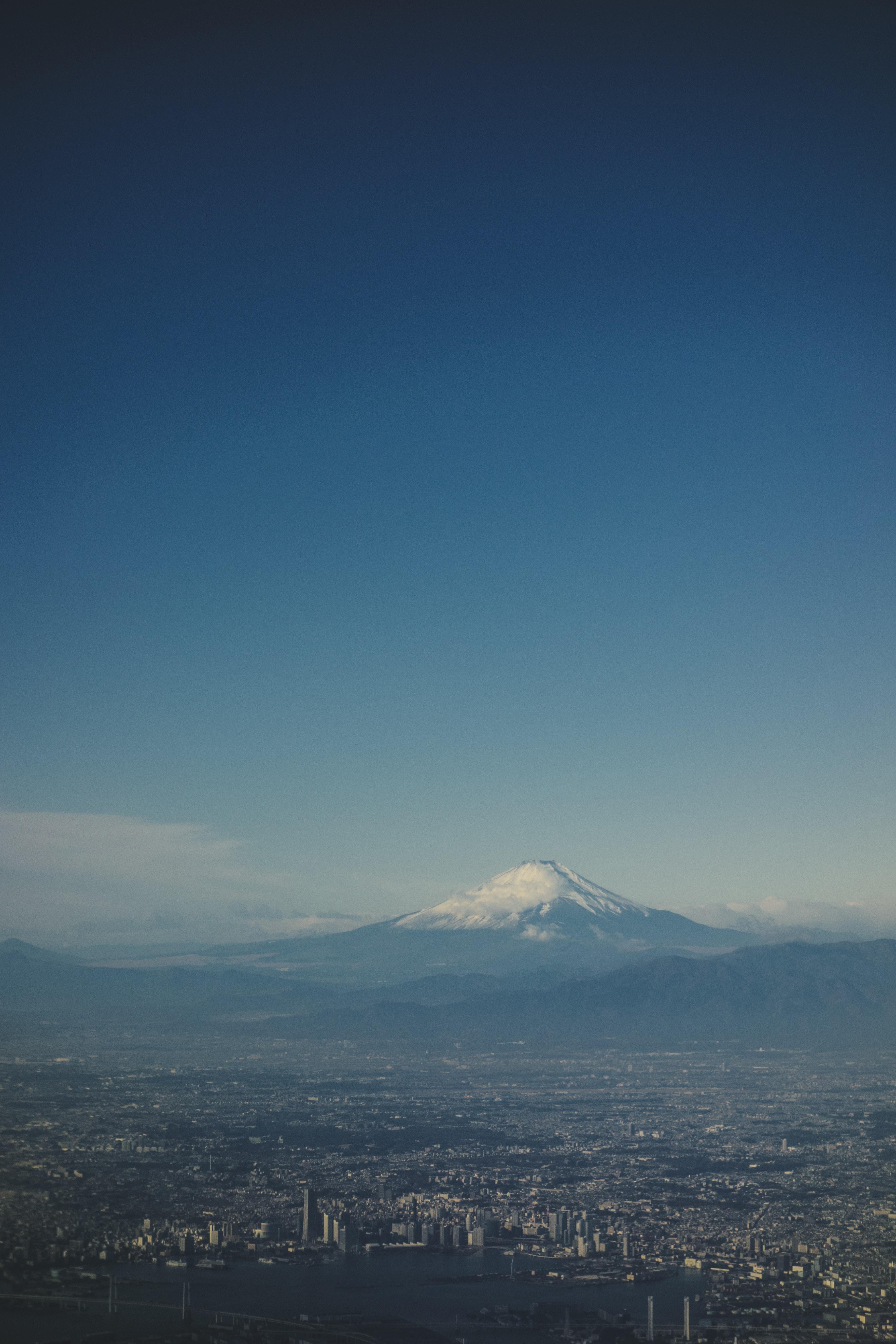 aerial shot photo of mountain