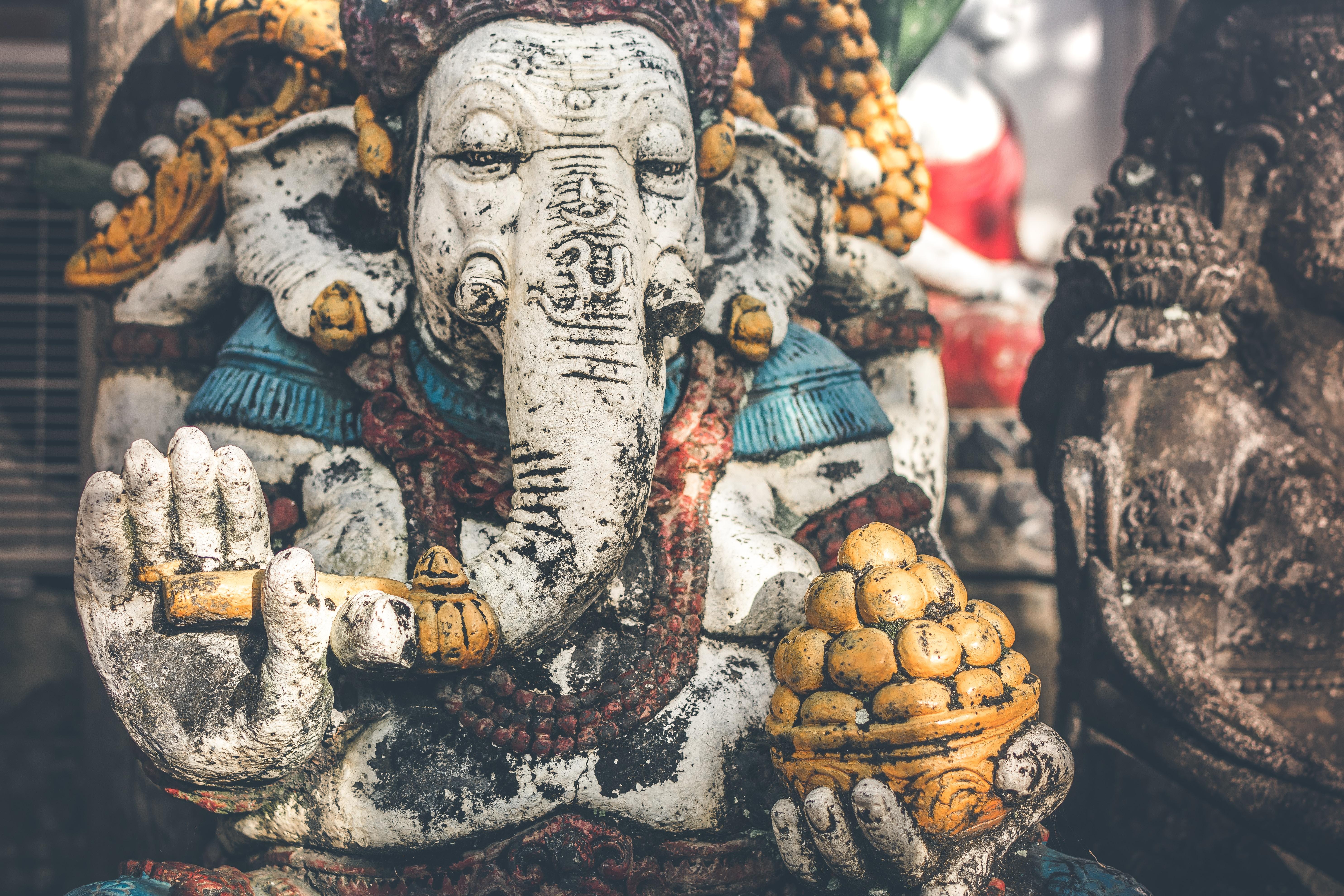 Ganesh deity ceramic sculpture