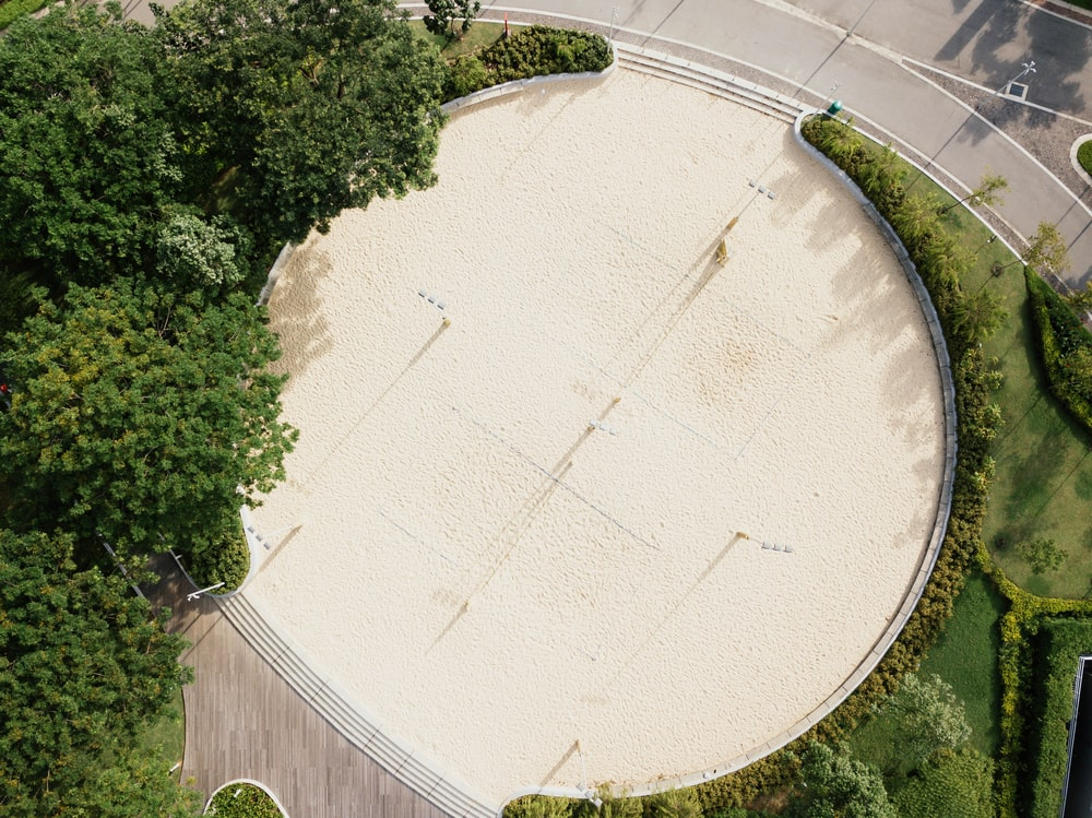 aerial view of round park