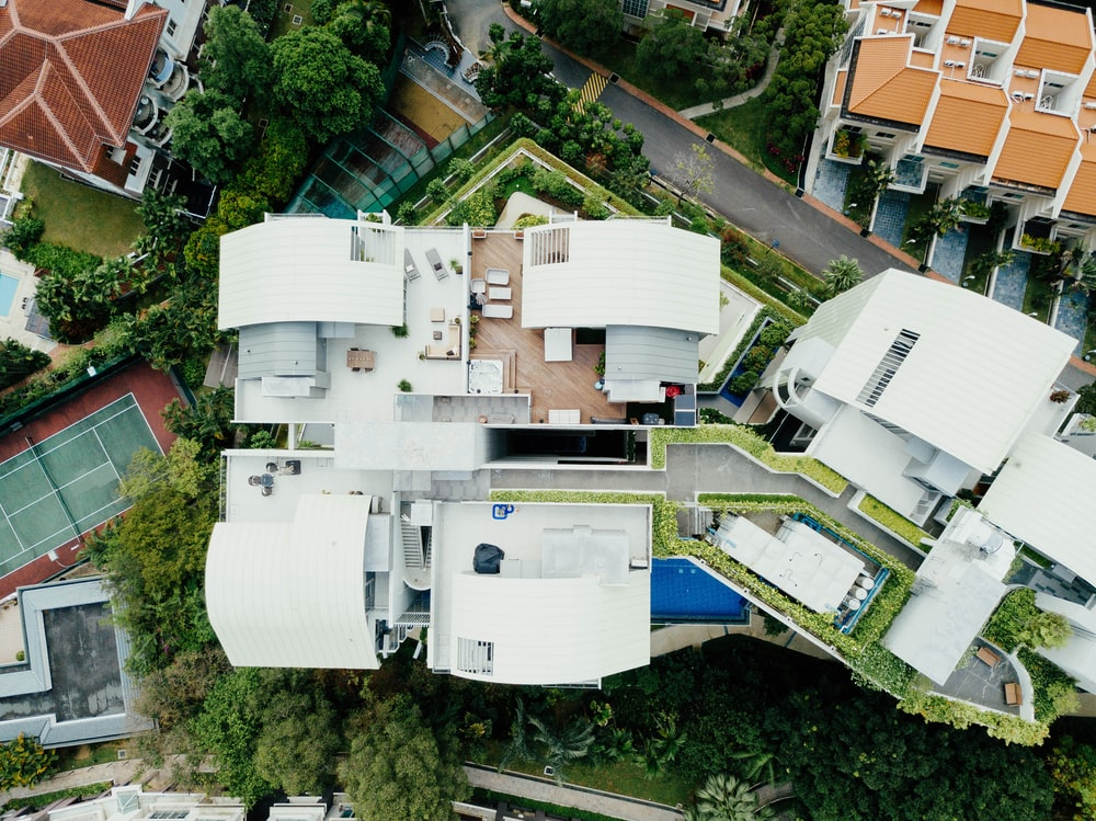 aerial photo of houses during daytime