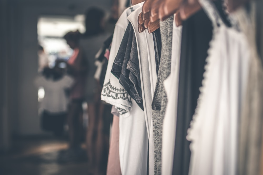 selective focus photography of clothes