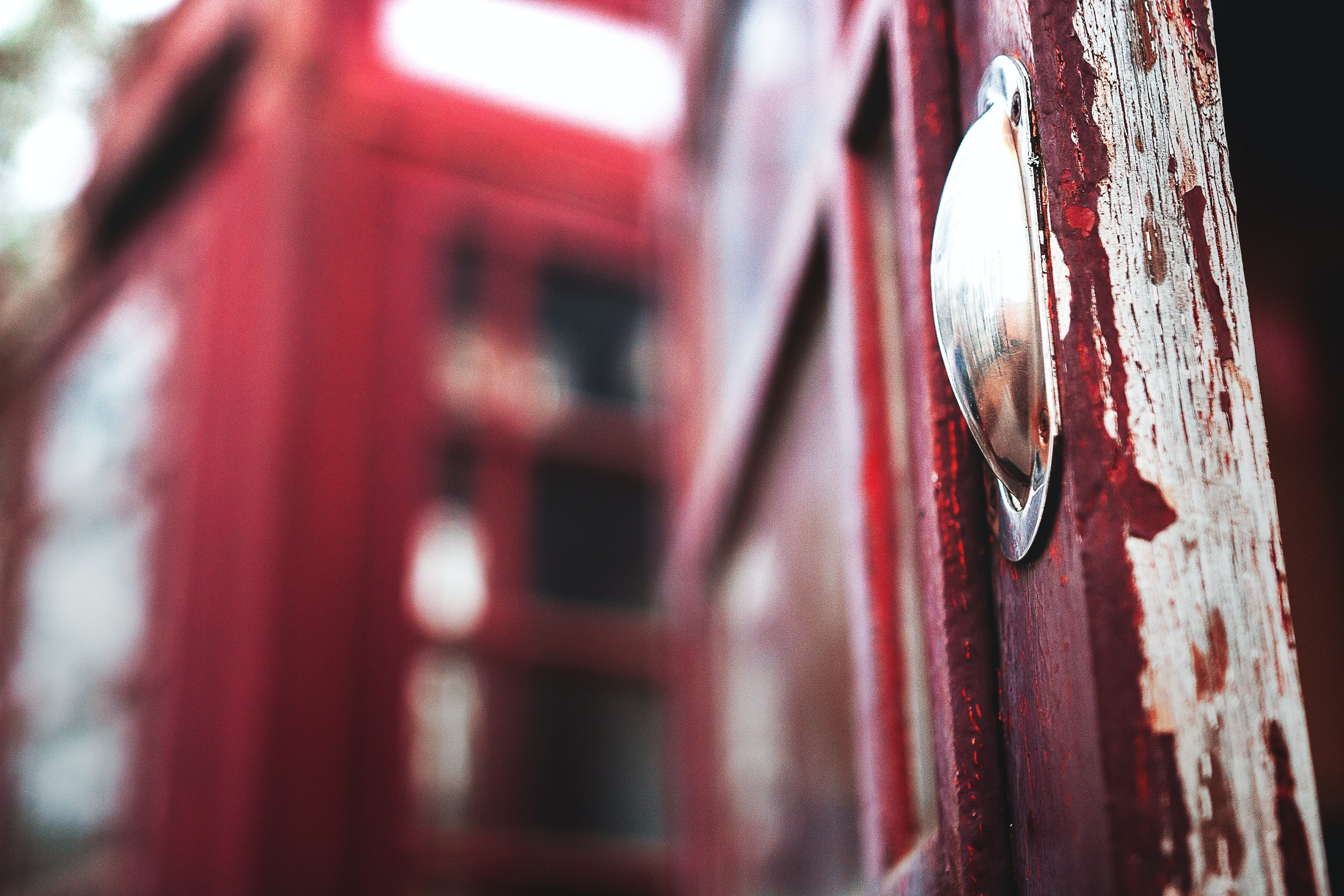 selective focus photography of telephone booth