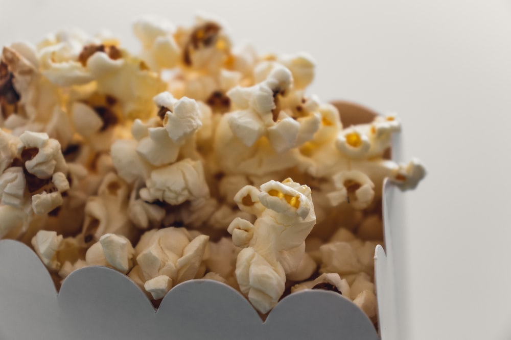selective focus photography of popcorn