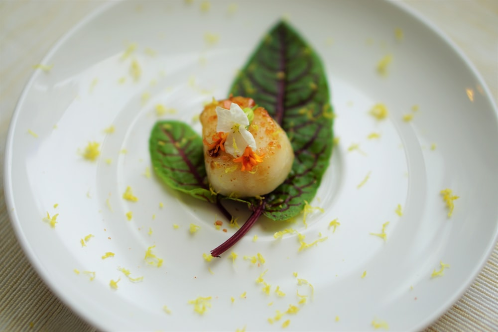 scallop with green relish