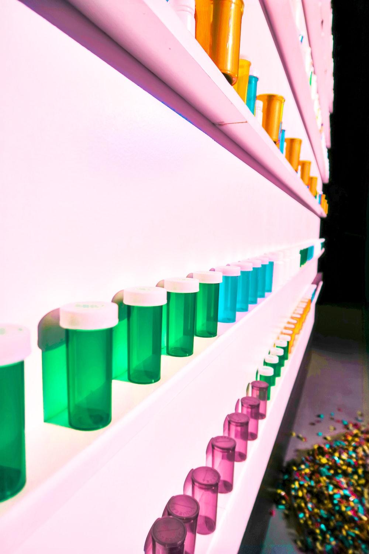 inline assorted-color bottles