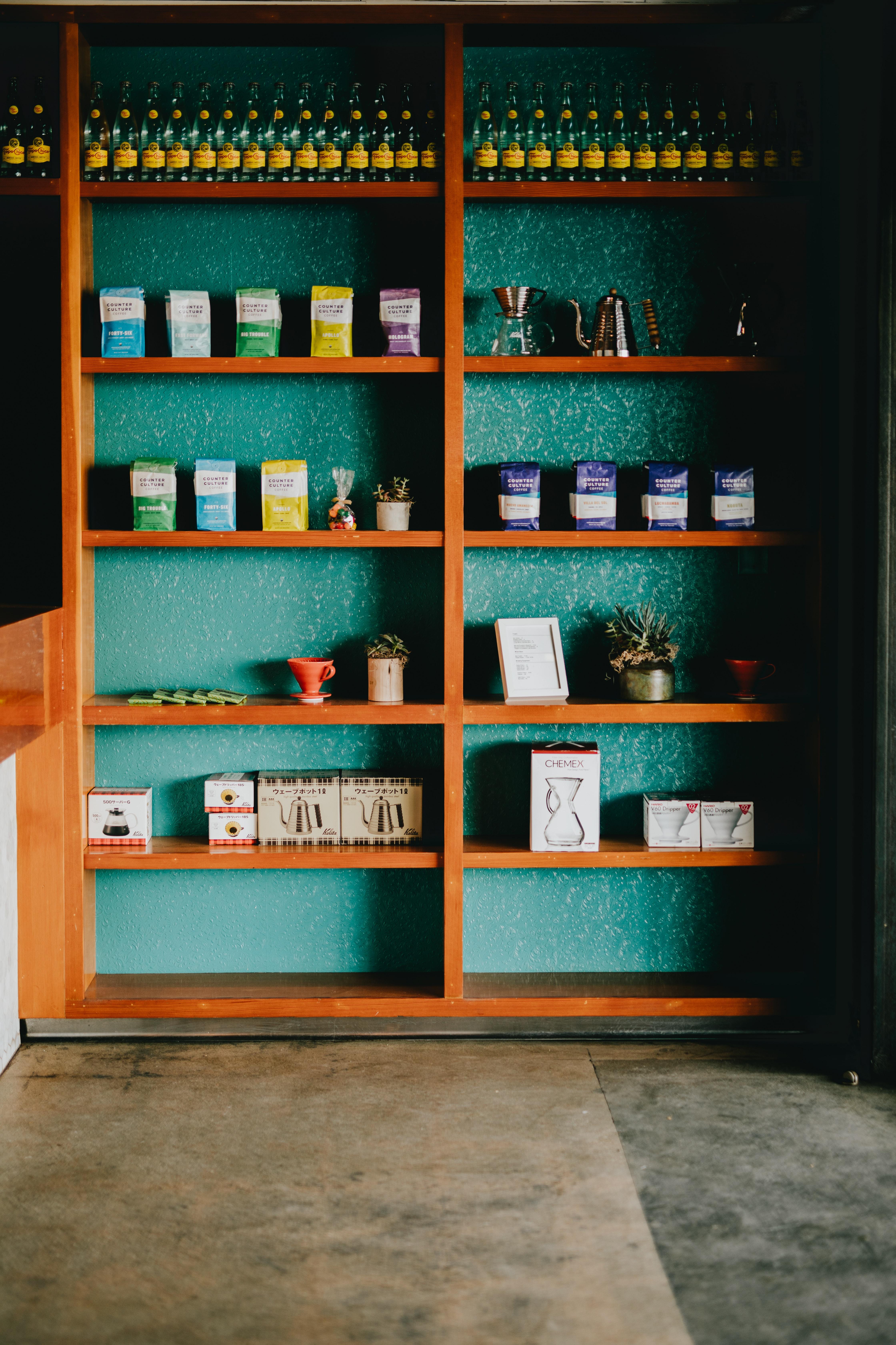 items on shelf