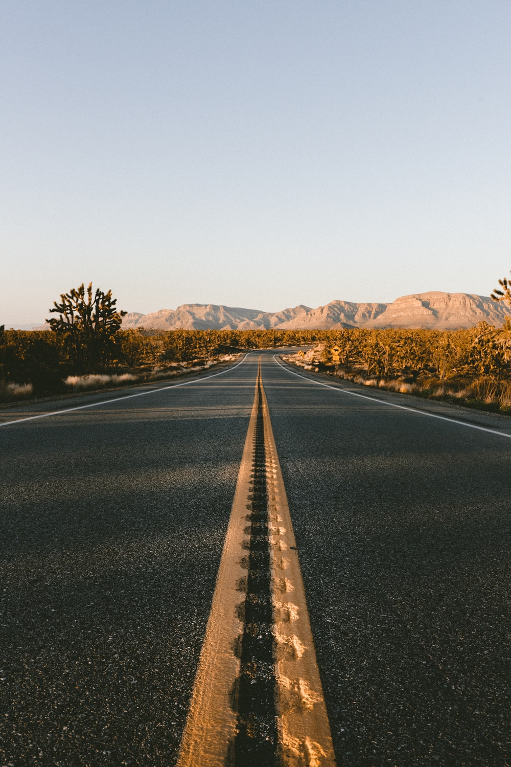 low angle view of asphalt road during daytime