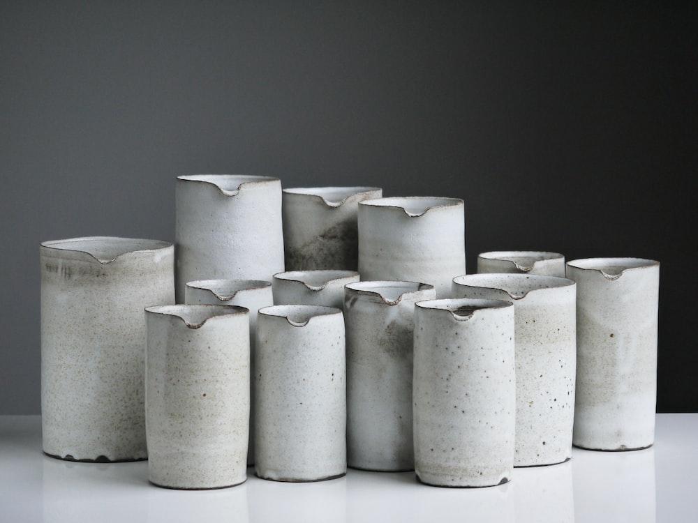 white ceramic vase lot