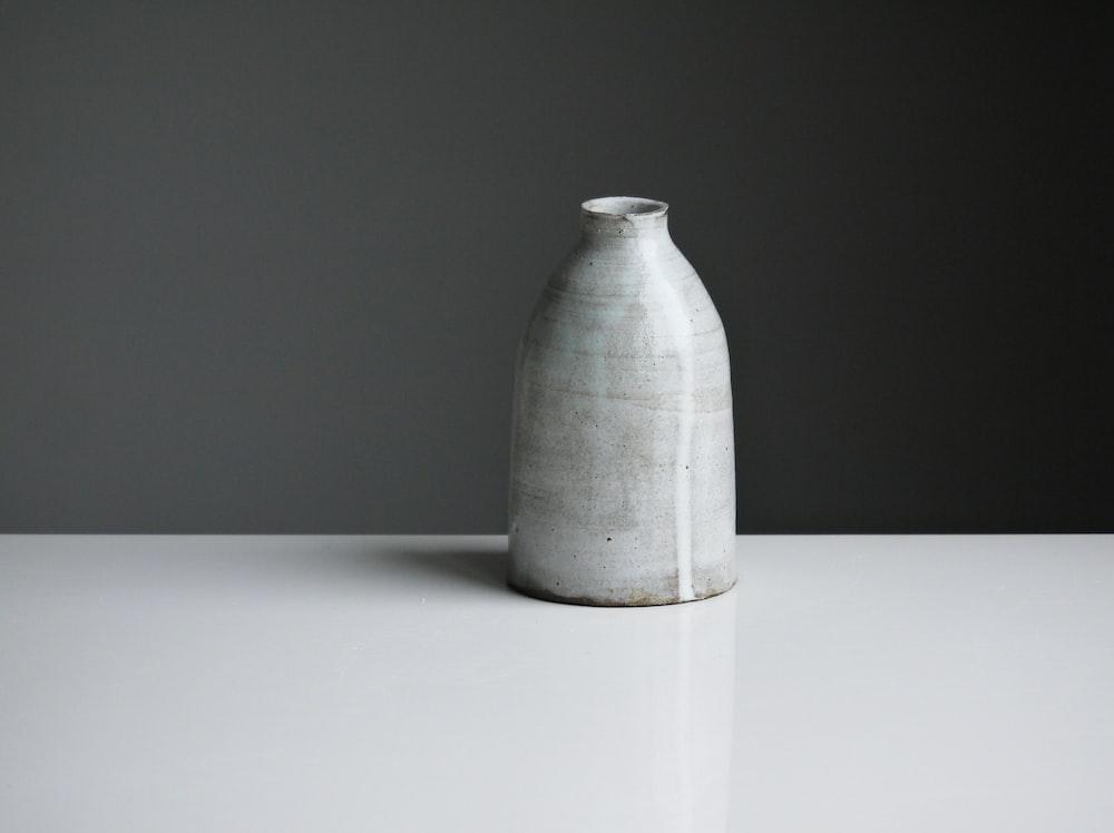 gray certamic pot