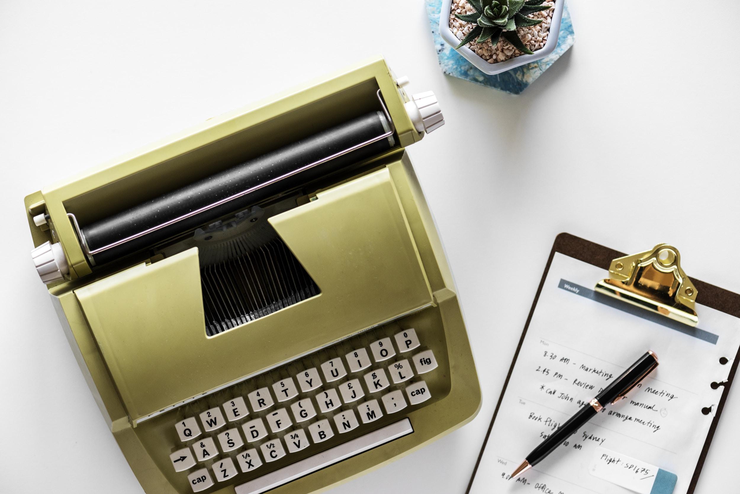 gold typewritter
