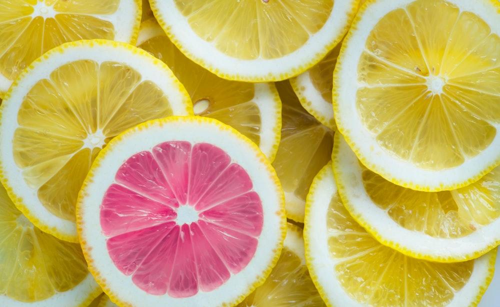 yellow slice fruits