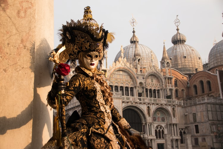Mask contest at Venice Carnival