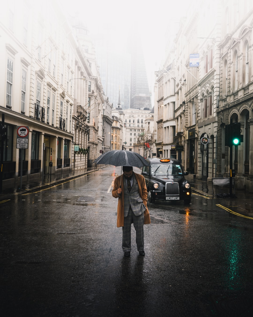 A rainy outing in the city