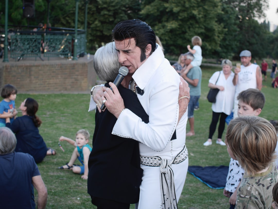 A summer evening in Hampsted Heath with a Elvis impersonator.