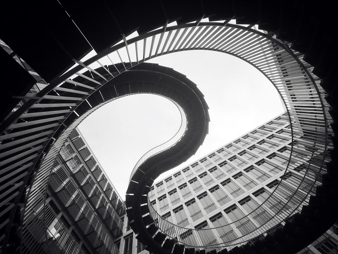 In the middle of the KPMG office campus the have an art installation called the never-ending staircase.
