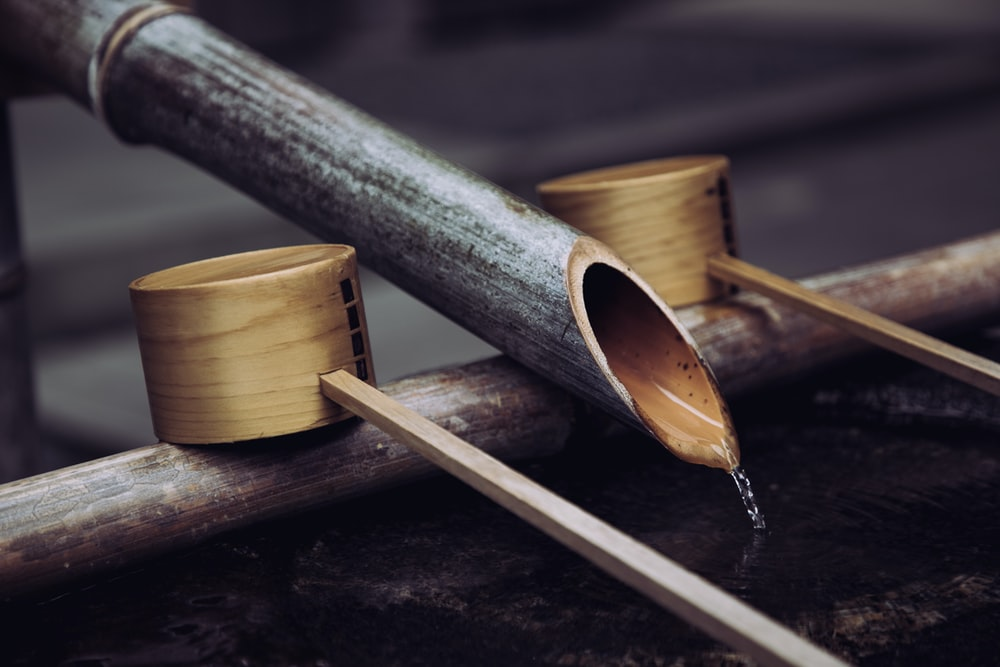gray bamboo water system