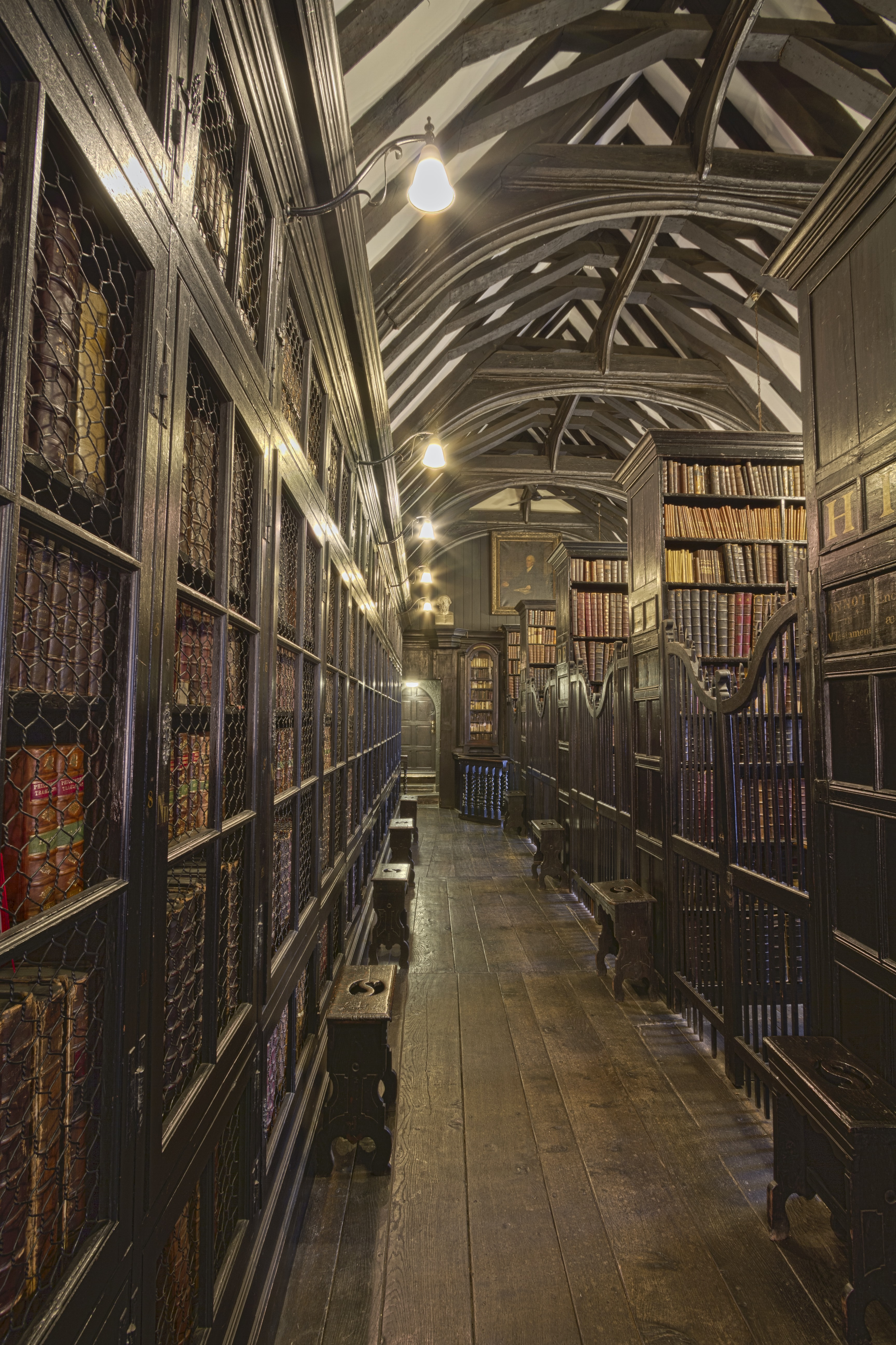 photo of books on shelves library interior