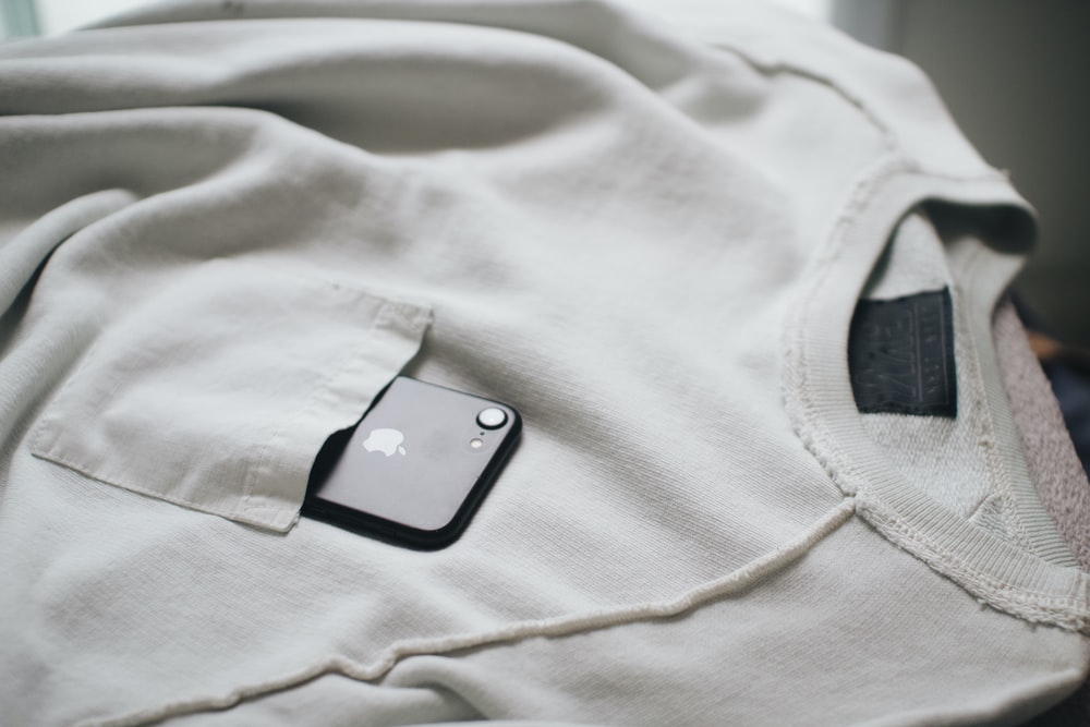 white scoop-neck shirt