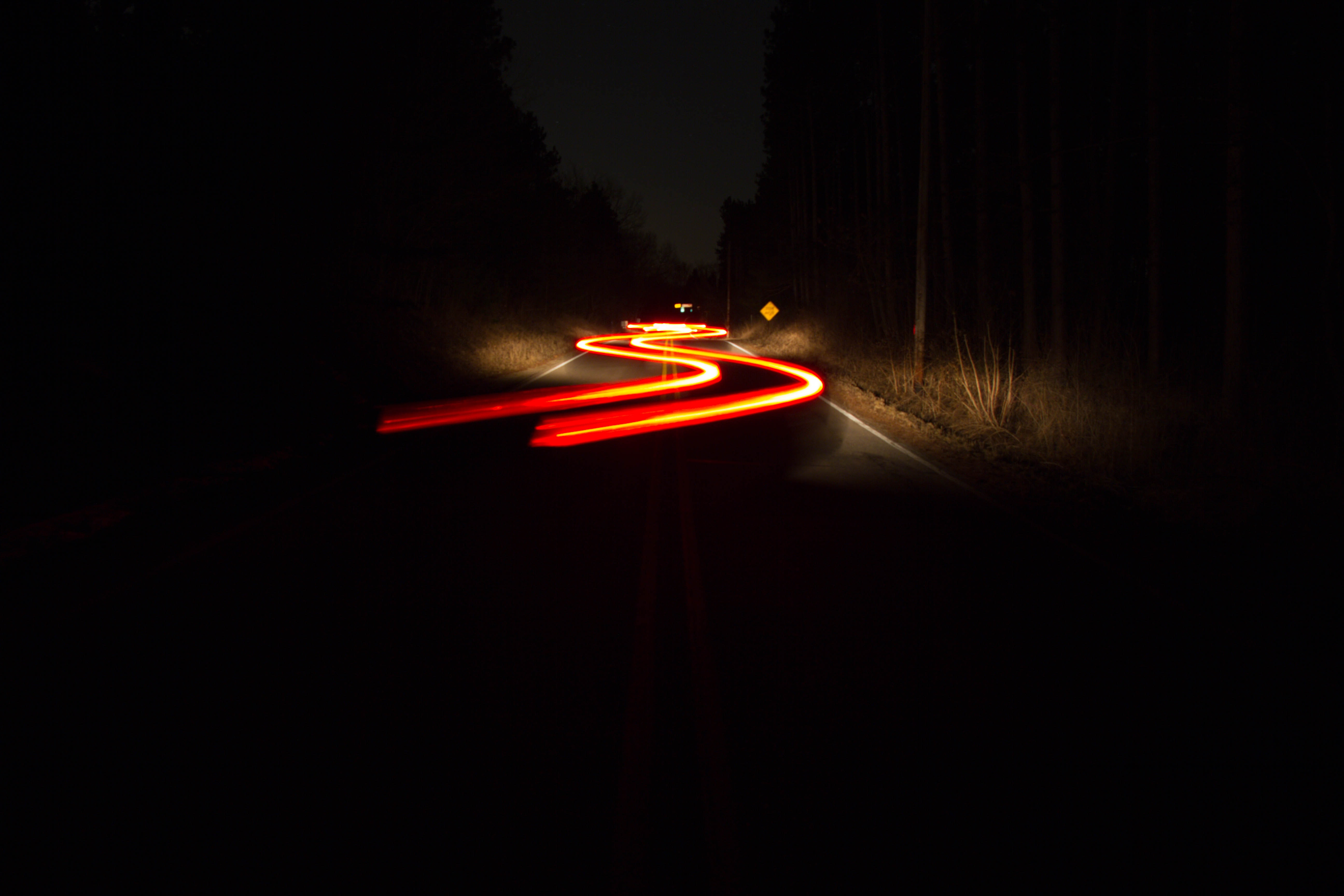 time-lapse photography of vehicle lights