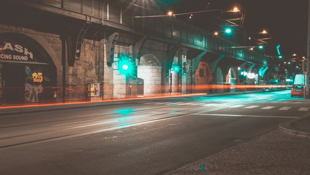 street lights during night