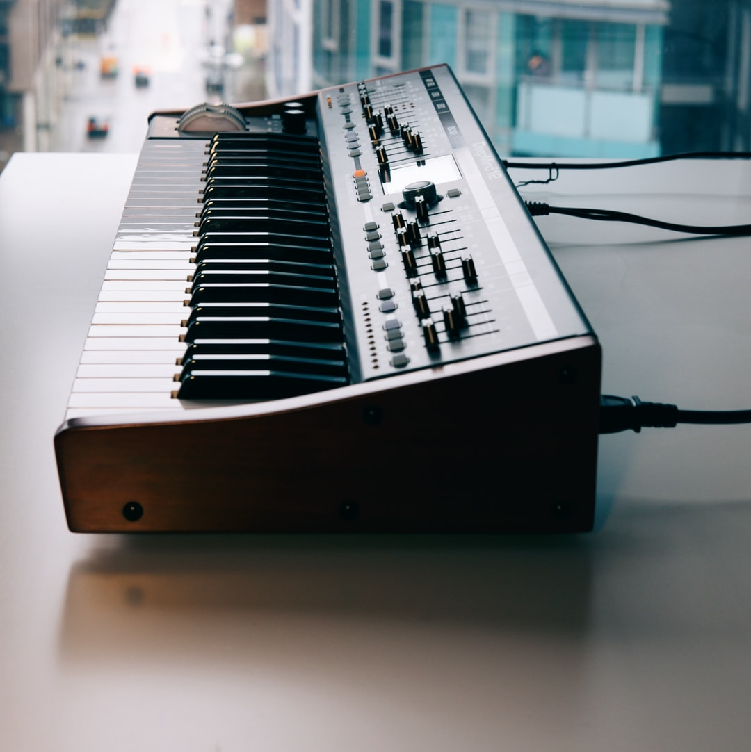 My analog synth, Deepmind 12 by Behringer.