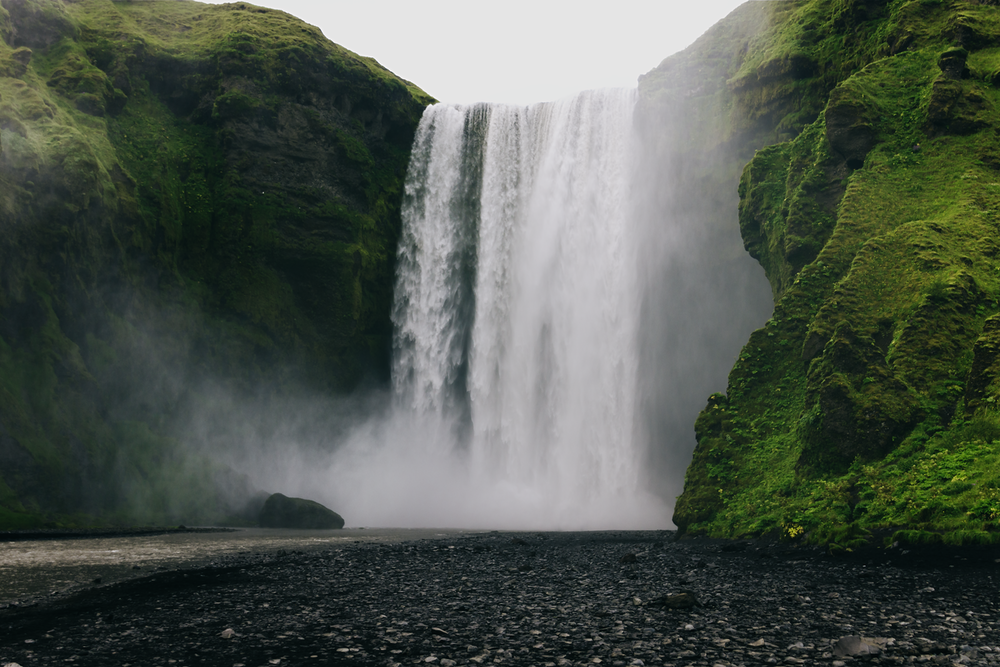 scenery of waterfalls