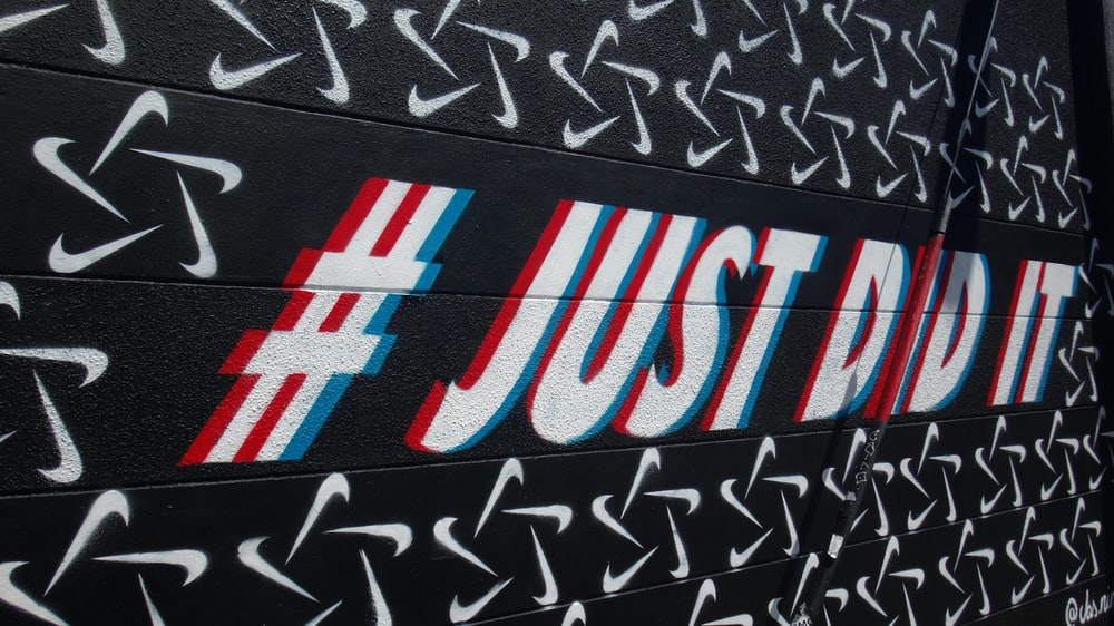 Nike #just do it text