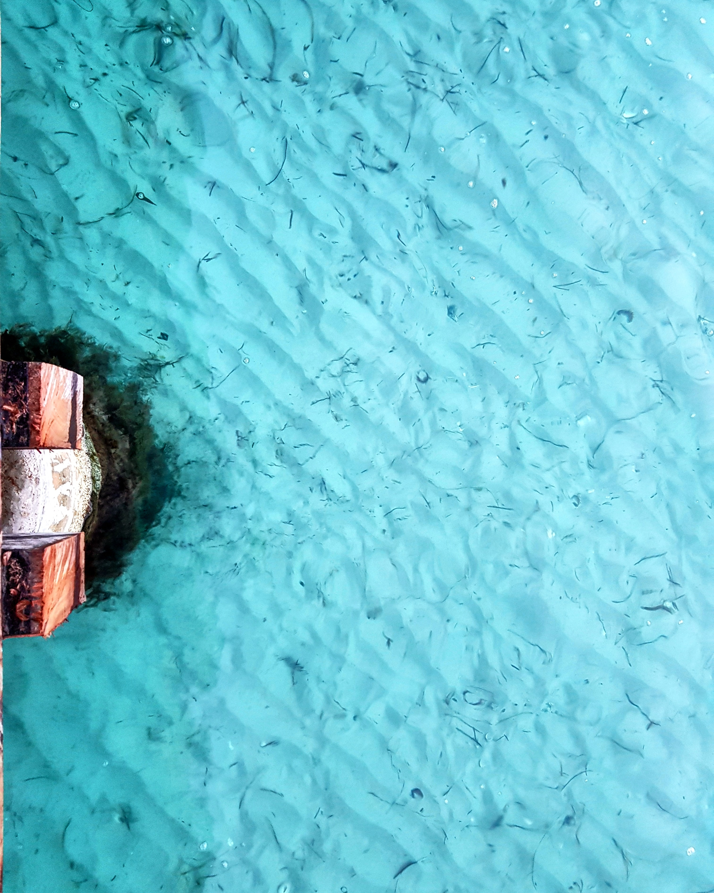 birds eye photography of island and body of water