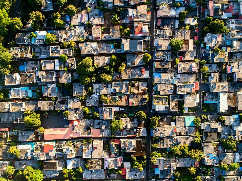 village overhead photography