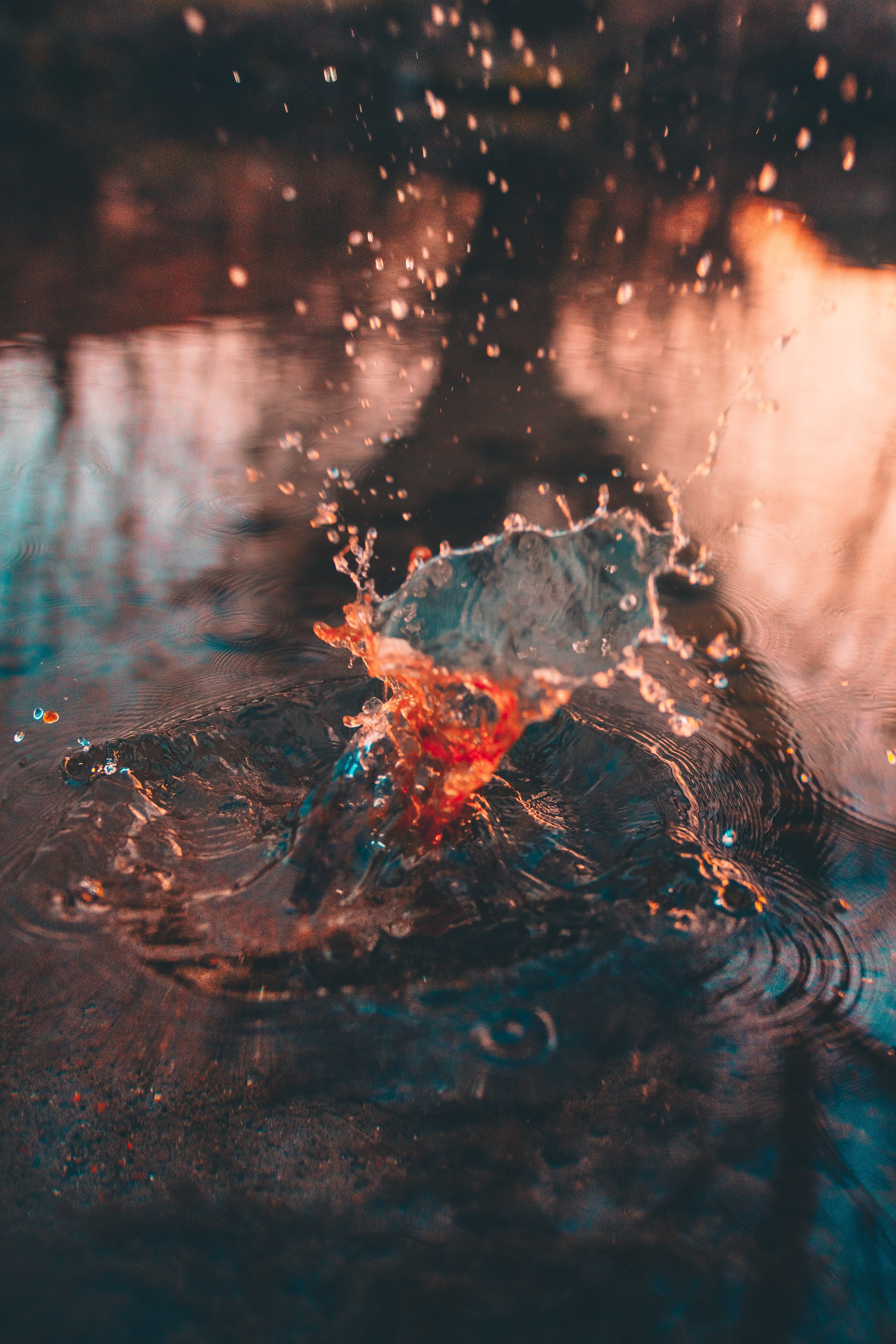 shallow focus photography of splash of water